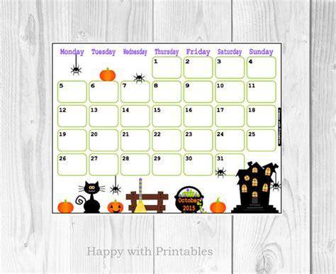 printable calendar october 2015 cute 7 best images of cute halloween free printable 2015