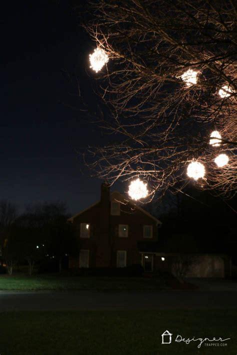 outdoor lighted tree balls lighted balls diy lighted balls ornament tutorials