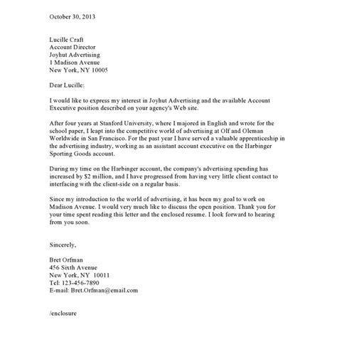 cover letter for ad agency advertising account director cover letter pharmacy aide