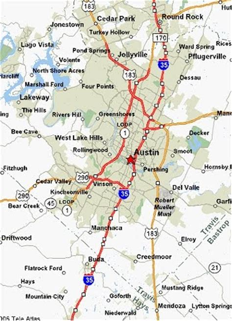 printable austin area map map of austin free printable maps