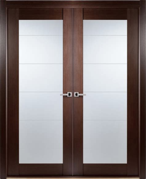 Contemporary Interior Glass Doors Contemporary Wenge Interior Door Lined Frosted Glass Contemporary Interior