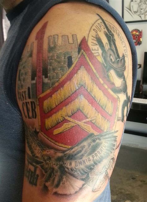 marine corps sleeve tattoo designs usmc rank search hubs usmc