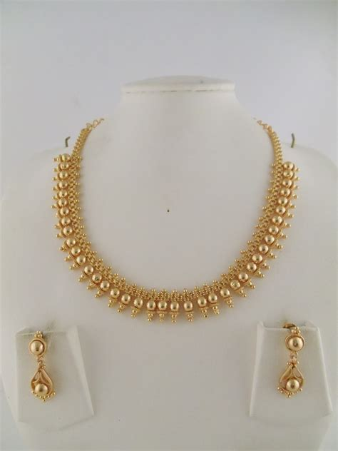 1gm gold jewelry necklace sets
