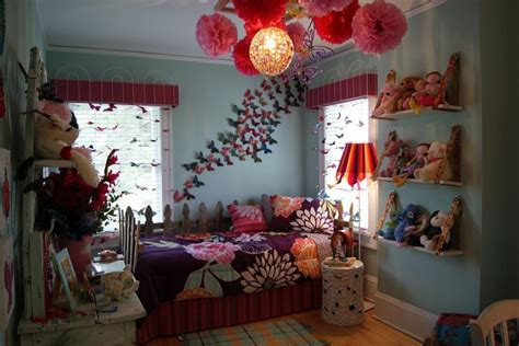 charming butterfly themed girls bedroom ideas rilane