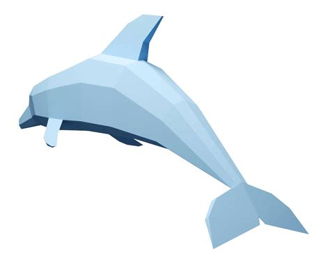 Dolphin Papercraft - paper craft dolphin big model diy papercraft paper model