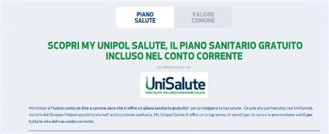 Unipol Banca Conto On Line by Unipol Banca Quot Piano Sanitario Gratis Con Conto