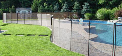 diy mesh pool fence childguard diy pool fence removable mesh pool fencing