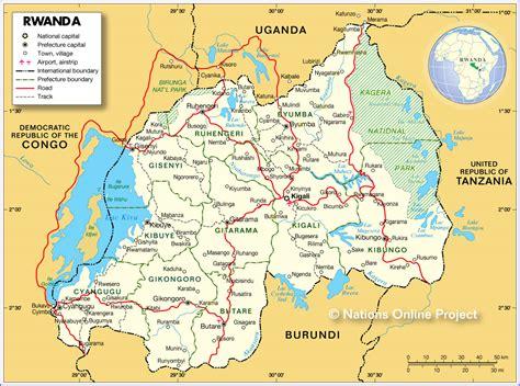 rwanda map basic facts about rwanda