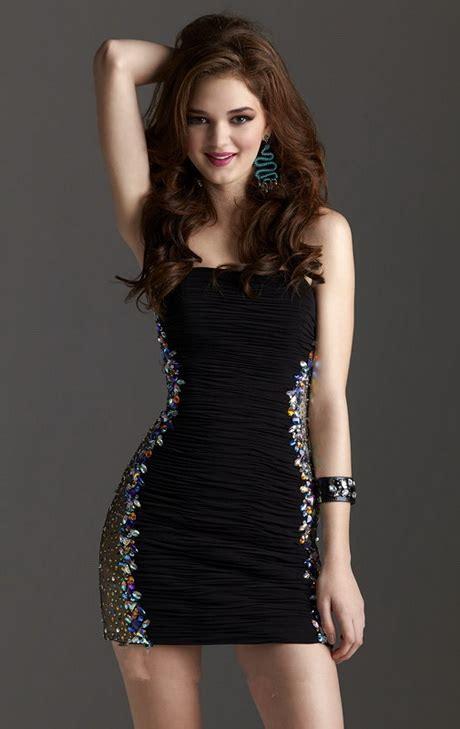 short tight black dress