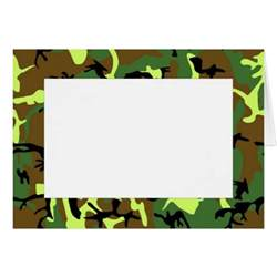 camouflage border note card zazzle