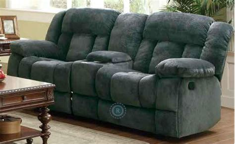 reclining loveseat with center console laurelton doble glider reclining loveseat with center