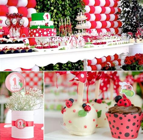 kara s party ideas ladybug themed birthday party