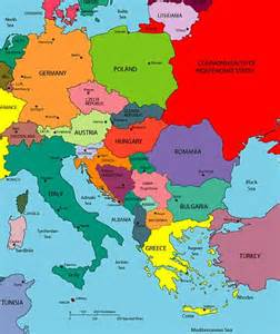 map of the country of central and eastern europe map europe