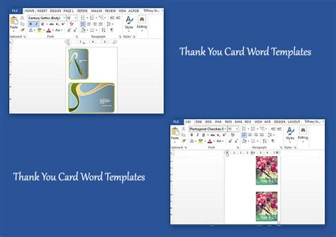 word template for thank you card thank you card word templates