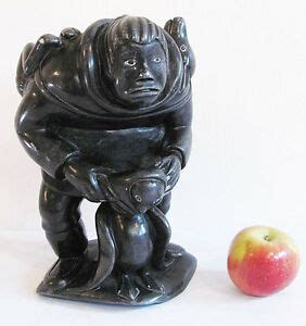 inuit soapstone carvings value large canadian eskimo inuit soapstone carving by