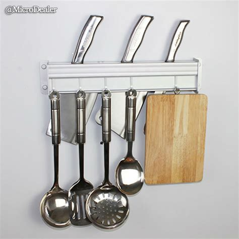 Kitchen Utensils Knife Holder 50cm Matte Aluminum Wall Mounted Kitchen Organizer Hanger