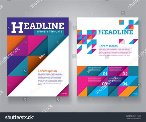 letter size brochure template letter size business flyer template layout stock vector