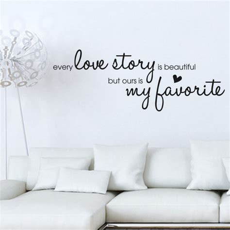 home decor love dctop 2016 new arrival decals every love story wall