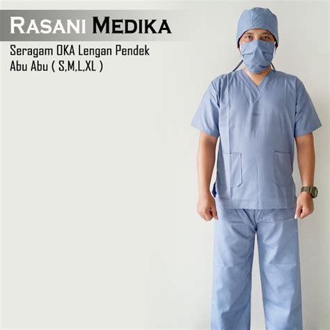 baju kamar operasi pendek baju ok abu abu rasani medika