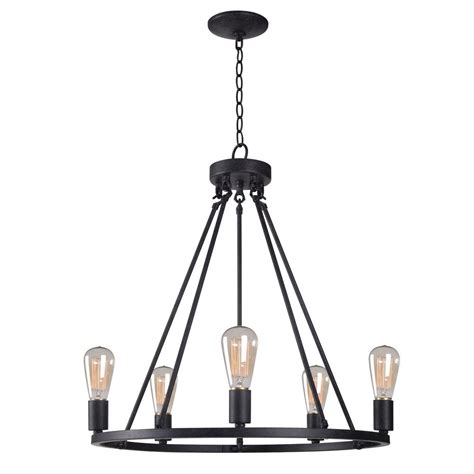 kenroy home hixon 5 light graphite chandelier 93565fgrph