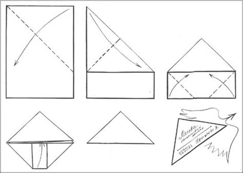 Fold Paper Into Triangle - triangle letter how to mail for free improvised