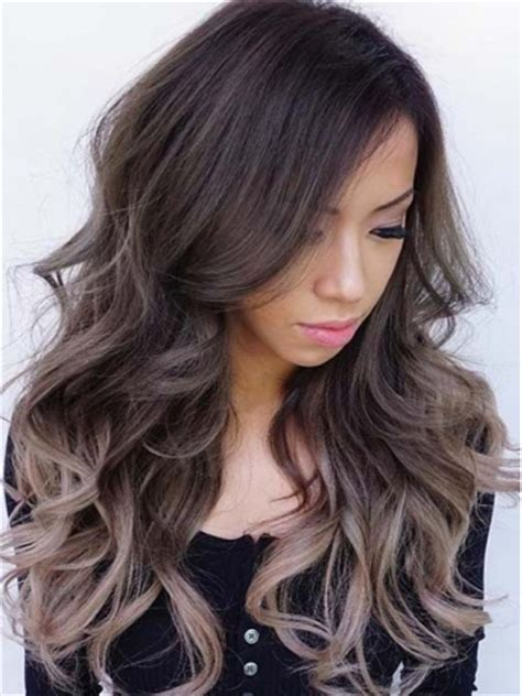 pics of bkonde hair in front dark brown in back dark brown ombre ash blonde long way full lace human hair