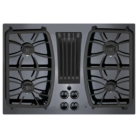 black gas cooktops ge profile 30 in gas on glass downdraft gas cooktop in