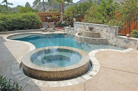 modern pools design with natural creative ideas pool design modern custom pool design with raised jacuzzi