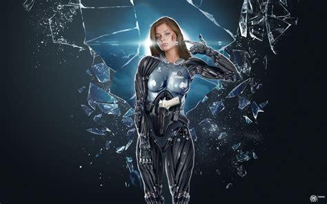 artwork women broken glass cyber wallpapers hd