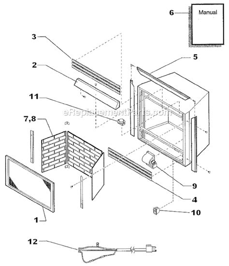 monessen dzs36pvas parts list and diagram