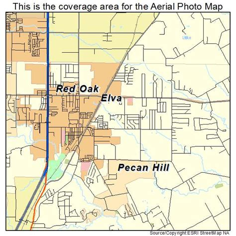 oak texas map aerial photography map of oak tx texas