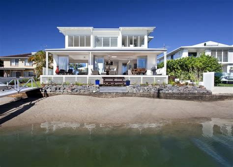 ocean front house plans airy beachfront home with contemporary casual style