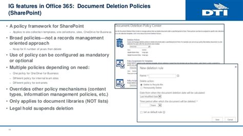 information governance in office 365 records management