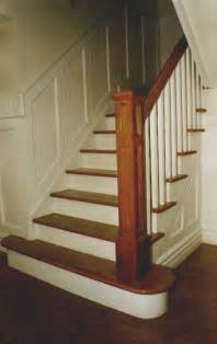 wood stair railings on iron stair railing