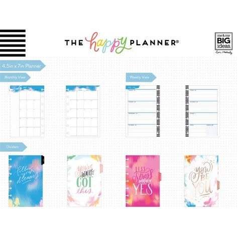 2019 Mini Happy Planner by Mini Organiseur Me My Big Ideas The Happy Planner