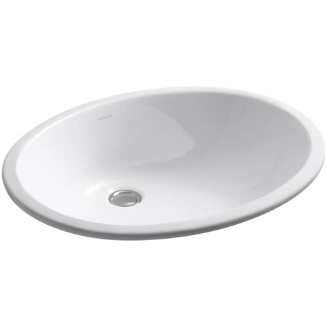 kohler caxton undermount sink shop kohler caxton white undermount oval bathroom sink