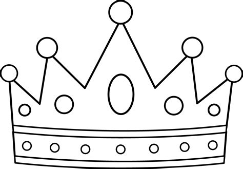 simple crown coloring page royal crown coloring page free clip art