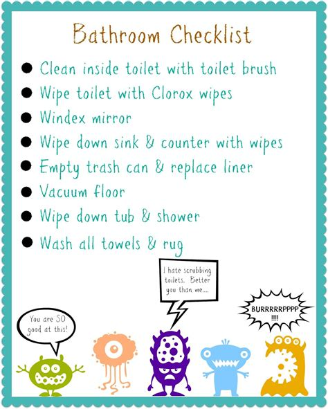 bathroom rules for kids organizing your kids free printable organization