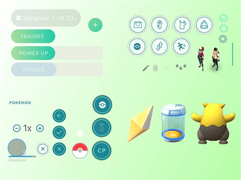 pokemon go ui elements sketch freebie download free