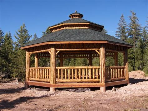 log octagon gazebo kit log gazebos gazebo