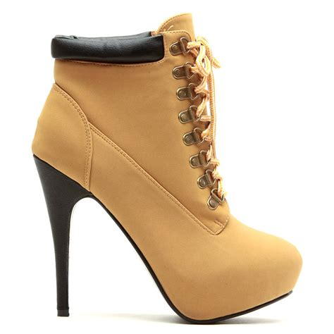 compose 01 camel lace up platform ankle boots stiletto heels