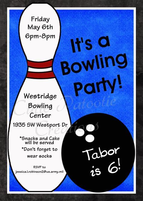 printable birthday invitations bowling bowling birthday invitation printable or printed party invite
