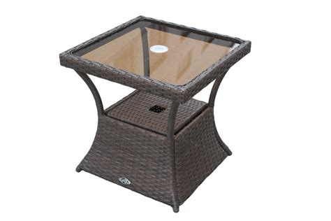 Ally Woven Patio Accent Table Hton Bay Ally Woven Accent Table The Home Depot Canada