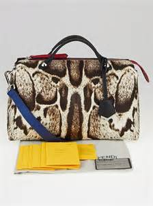 Handbags Are An Easy Way To Wear Leopard Print by Fendi Leopard Print Calf Hair And Leather Medium By The