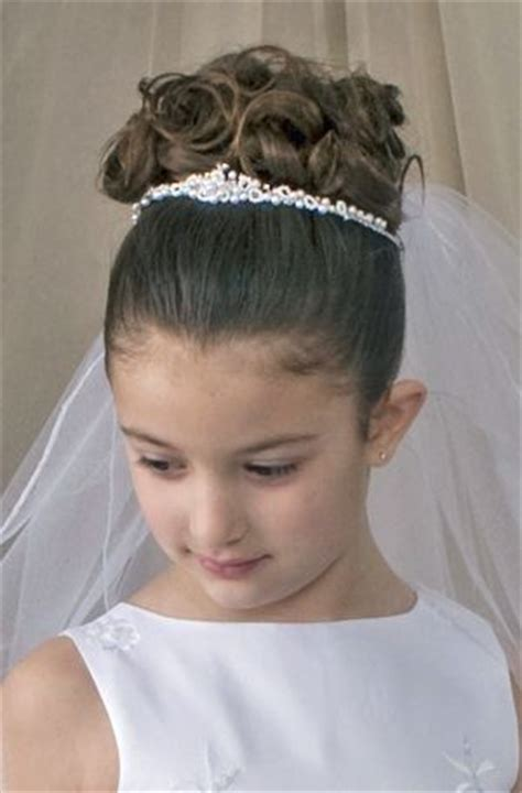 girls hairstyles for first holy communion first communion tiara hairband ana s communion