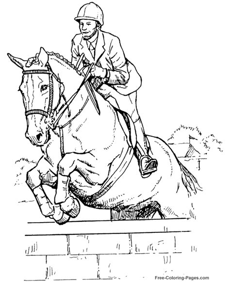 horse trainer coloring page horse coloring sheets 038