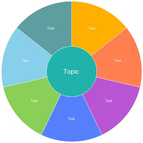 word wheel template how to create a pie diagram using powerpoint ehow