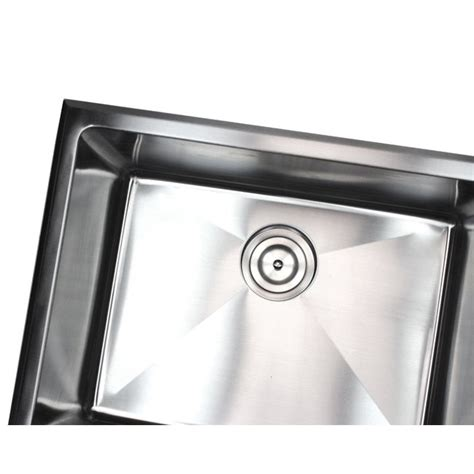 stainless steel drop in laundry sink 23 inch undermount drop in stainless steel single bowl