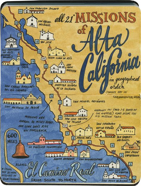 california missions map mission impossible the road again