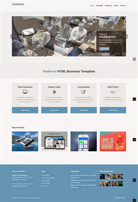 responsive template for responsive website templates free
